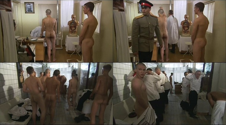 naked Russian cadets passing physical examinations
