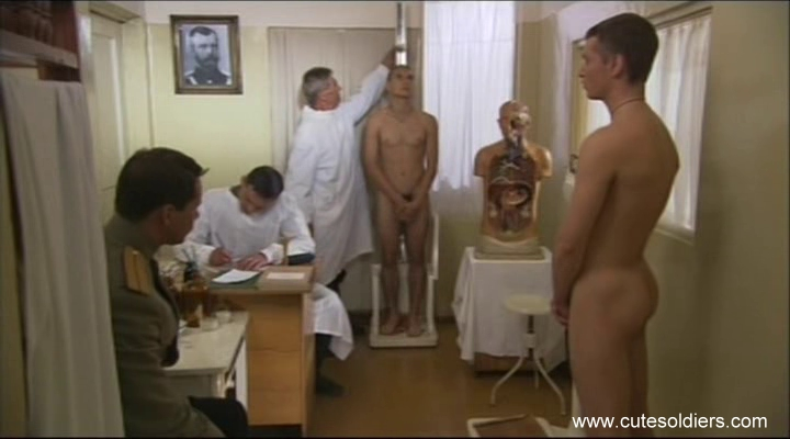 sexy young cadets in medical examinations in Russia