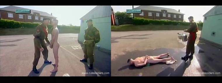 english soldiers naked hazing