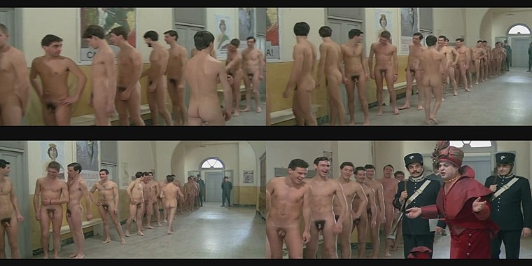 nude Italian soldiers in vintage movie