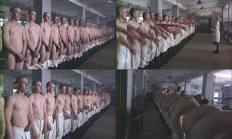 naked Russian soldiers in army medical examination